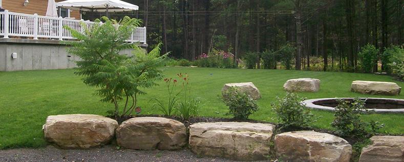 Am nagement paysager pose de gazon pierre naturelle naturpro - Pose pierre naturelle exterieur ...